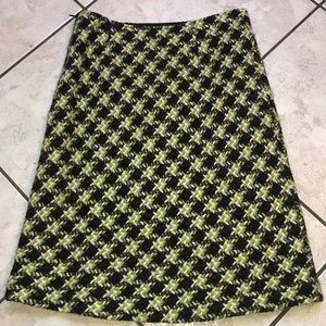 EUC TRIBAL LINED WOOL SKIRT FABRIC MADE IN ITALY